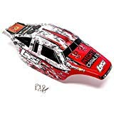 Losi Comp Crawler - Team Losi Losi Night Crawler 2.0 4WD Rock: Red, White, Black Painted Body Shell Cover
