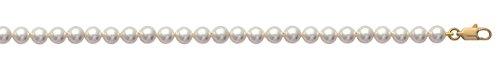 Bracelet en Plaqué Or et Perles d'Imitation de Majorque 6 mm - 18 cm