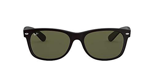 Ray-Ban RB2132F New Wayfarer Asian Fit Sunglasses, Black Rubber/Green, 58 mm (Ray-ban New Wayfarer Amazon)