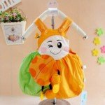 Cute Ladybird Baby Climbing Clothes Baby Bib Pants (Orange)
