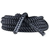 Champion Sports Heavy Training Rope: Rhino Poly Strength & Conditioning Heavy Gym Battle Ropes - Cardio, Cross Training, Weight Training & Crossfit