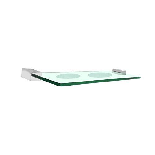 Saboneteira dupla vidro cristal verde Suitte Luxo