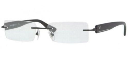 d4417a73520 Vogue Brille 3796 352 Gr.55/17 in schwarz, Bohrbrille aus Metall mit ...