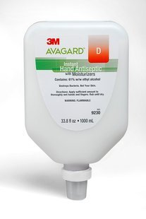 3M Avagard D Instant Hand Antiseptic with Moisturizers, Case of 5L (1000mL/ea) - 9230