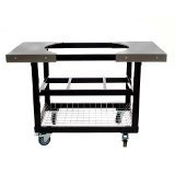 Primo 310 Cart With Basket and Side Tables With Casters for Primo Oval XL Grill by Primo