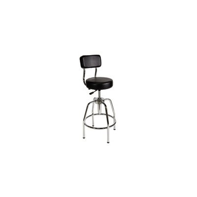 Height Adjustable Shop Stool with Backrest
