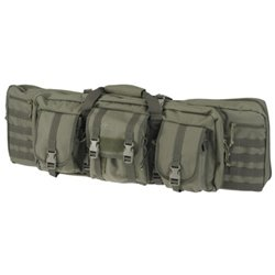 Drago Gear 36-Inch 12-302GR Tactical Gun Case, Made of 600D Polyester with 2 Padded Pistol Pouches, 4 Zippered Storage Areas and 3 Large Pouches, Green