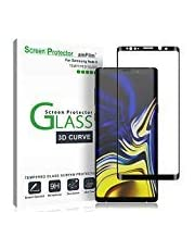 amFilm Galaxy Note 9 Protector de Pantalla, Anti-Burbujas Cristal Vidrio Templado Protector de Pantalla para Samsung Galaxy Note 9 (1 Pack, Negro)