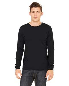 (Canvas 3501 Mens Jersey Long-Sleeve T-Shirt, Black, Extra Large )