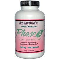 Healthy Origins, Phase 2, Starch Neutralizer, 500 mg, 180 Capsules