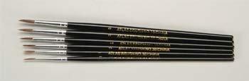 30-6PS Detail Camel Hair Brush Set (6) Camel Hair Fine Paint Brush