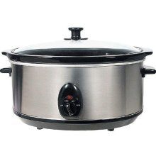 Brentwood 6.5 Quart Slow Cooker Stainless Steel by Brentwood