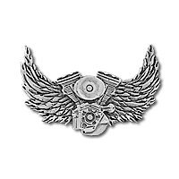 - V-TWIN WINGS leather jacket biker pin
