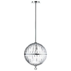 Large Clear Glass Globe Pendant Light - 9