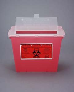 Bemis Healthcare 102 030 Translucent Red Sharps Container, 2 gal (Pack of 30) by Bemis Health Care (Image #1)