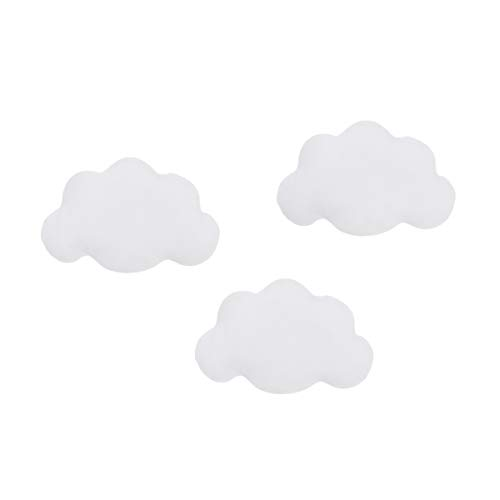 Little Love by NoJo 3Piece White Soft Cloud Shaped Baby Nursery Wall Decor, White