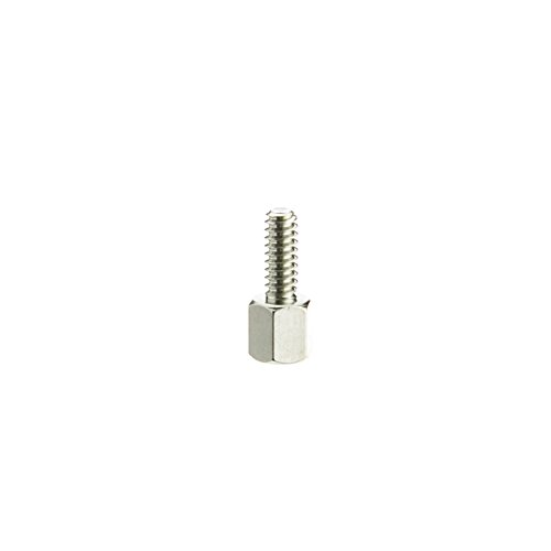 CableWholesale Hex Nut Jack Screw, 100 Pieces, 4-40, 11.40mm