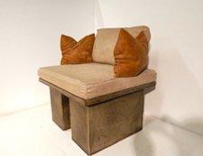 Designer Stone Patio Chair,