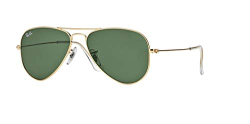 Ray-Ban RB3044 AVIATOR SMALL METAL L0207 52M Arista/Green Crystal Sunglasses (Herren Ray Ban Aviator Sonnenbrille Sale)