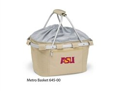 Picnic Time 645-00-190-022-0 Arizona State Embroidered Metro Picnic Basket, Beige by PICNIC TIME