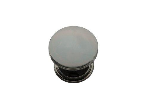 Classics American Knob - Hickory Hardware P2142-BLN American Diner Collection Knob 1-3/8 Inch Diameter Black Nickel