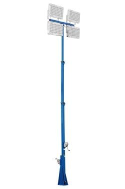 1600 Watt High Intensity LED Light Tower - Three Stage Mast - Extends up to 25 Feet - 208,000 Lumen(-6-20 Straight-60°) -  Larson Electronics, LM-25-3S-4X400W-LED-620-60F