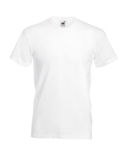 Fruit of the Loom 4.7 Oz., 100% Sofspun Cotton Jersey V-Neck T-Shirt (SFVR)- (Cotton V-neck Rugby)