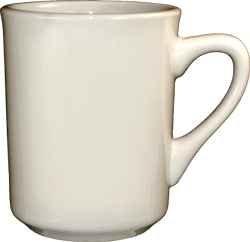 MUG, 8.5 OZ COFFEE TIARA DUCHESS WHITE CHINA CUP (Duchess Coffee)