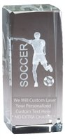 Express Medals Customizable Optical Crystal Male Soccer Trophy Award Gift