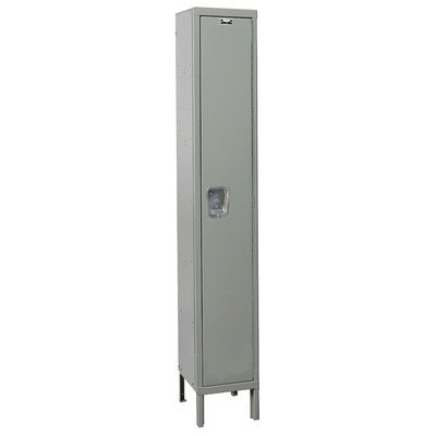 Hallowell UY1228-1A-HG Maintenance Free Quiet KD Metal Locker, Assembled, 1-Wide Grouping, 1 Tier, 72