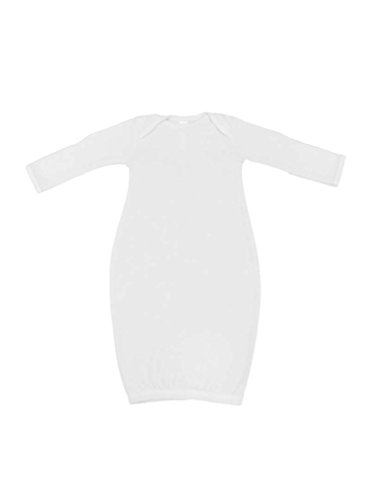Rabbit Skins Infant Baby Rib Layette, White, NB]()