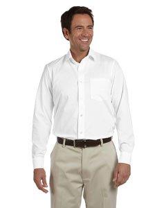 Ashworth 7004 Mens Dobby Blend Woven Shirt - White - L ()