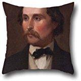 Oil Painting Emanuel Leutz - Nathan Flint Baker (1820-1891) Cushion Cases ,best For Floor,kitchen,divan,her,living Room,kids Room 18 X 18 Inch / 45 By 45 Cm(two Sides)