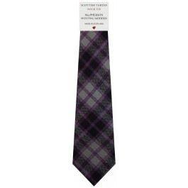 (Mens Tie All Wool Made in Scotland MacPherson Hunting Modern Tartan)