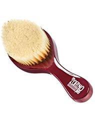 Torino Pro Wave Brush #490 by Brush King - Medium Curve Wave Brush - Made with 100% Boar Bristles - All Purpose Wave Brush Great 360 Waves Brush ()