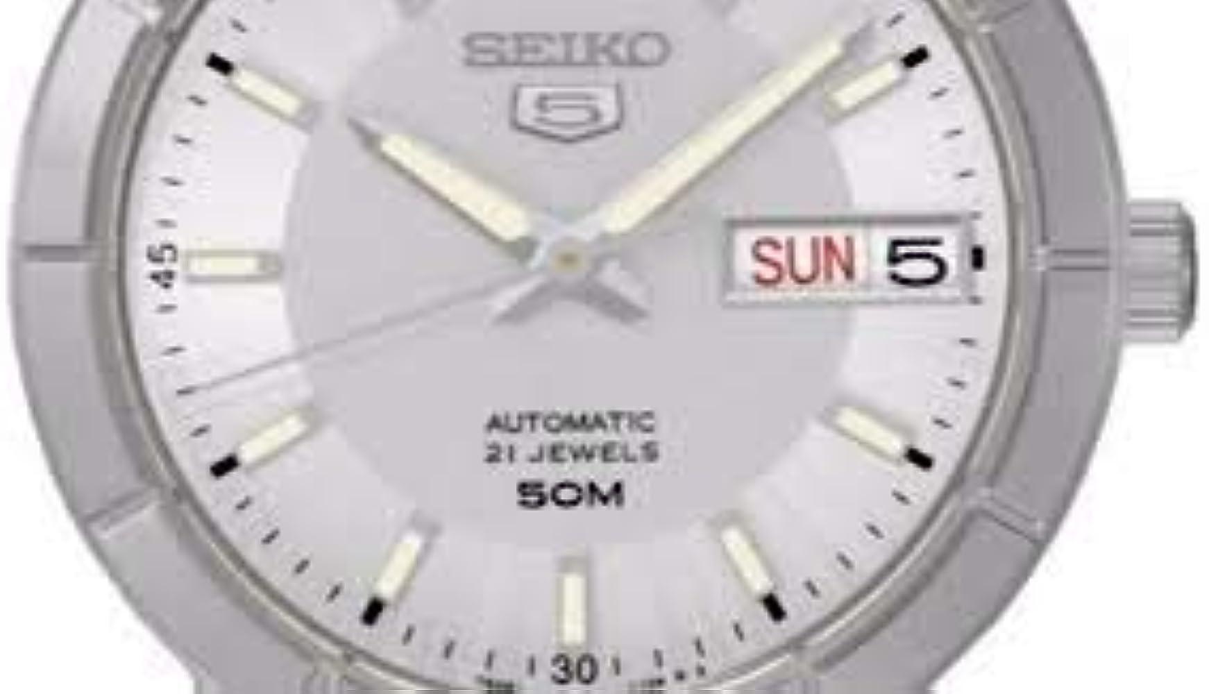 Seiko SNK899K1 - Reloj de Pulsera, Gris Metálico: Amazon.es: Relojes