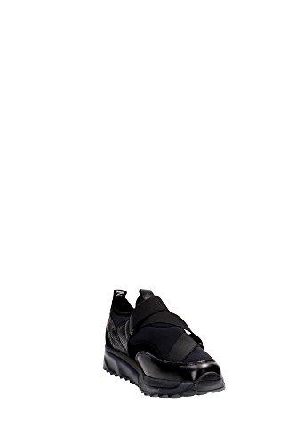 Bronx 65440-K Slip-on Zapatos Mujer Cuero/tejido Negro Black