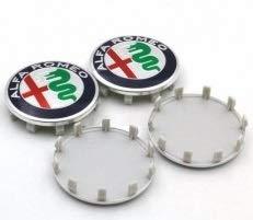 tapacubos Compatibles para Llantas de Alfa Romeo 60 mm Mito Giulietta 147 156 159