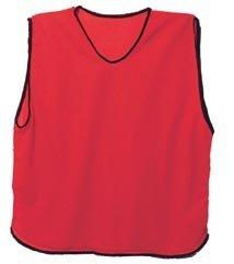 - Scrimmage Training Vests Soccer Bibs Adult Set of 12 (Red)