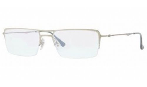 - Ray-Ban RX8713 LightRay Eyeglasses-1156 Silver-53mm