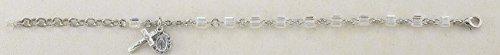 Swarovski Crystal Aurora Cube Shaped Rosary Bracelet 4mm