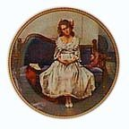 Norman Rockwell Waiting at the dance Knowles Collectible plate 1983 5th plate in rediscovering women series