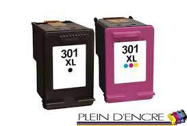 Pack 2 Cartucho de sustitución HP 301 XL, gran capacidad ...
