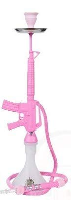 MOB M16 Hookah Set - Cool Shisha for Smoking Flavored Tobacco - Perfect for Parties, Assembles in Minutes (Pink)