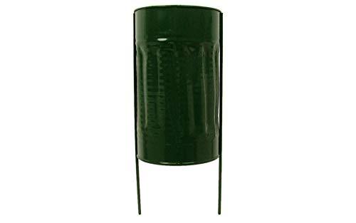 (Panacea Memorial Supplies Cemetery Vase 4 x 7 in. Metal Green)