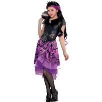 Raven Queen Costume (Ever After High Child Raven Queen Costume Wig Dress Capelet Large)