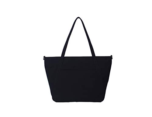 Canvas Womens Handbags Crossbody Bag Trendy Design Casual Shopper Satchel Bag -YONBEN (Black) (Lanvin Type)