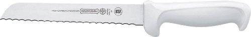 Mundial W5626-7 1/2 7-1/2-Inch Serrated Edge Bread Knife, White
