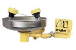 Bradley S19-220FW Safety Eye/Face Wash with Plastic Bowl, Wall Mount, 3 GPM Water Flow, 15-1/2'' Width x 15-79/128'' Height by Bradley