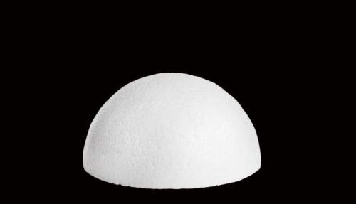 Smooth Desert Foam Half Ball White Half Round Styrofoam Foam - 8